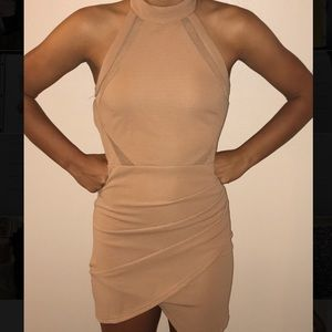 Dresses & Skirts - Nude high neck dress